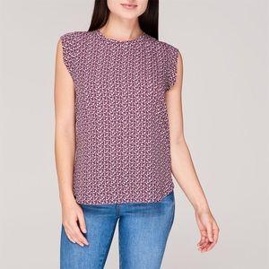 DKNY   NEW Flutter Sleeve Shirt   Shiraz   Sz Med